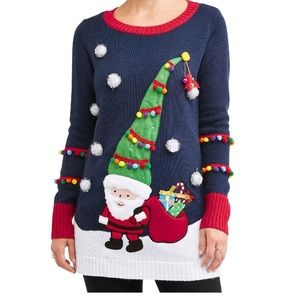 Sweaters - 2XL UGLY CHRISTMAS SWEATER LIGHTS UP